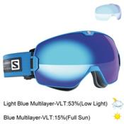 Salomon Xmax Goggles 2016, Blue-Solar Blue + Bonus Lens, medium