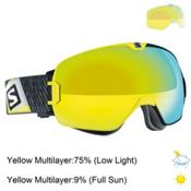 Salomon Xmax Goggles 2016, Black-Yellow- Solar Yellow + Bonus Lens, medium