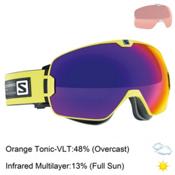 Salomon Xmax Goggles 2016, Gecko Green-Solar Infrared + Bonus Lens, medium