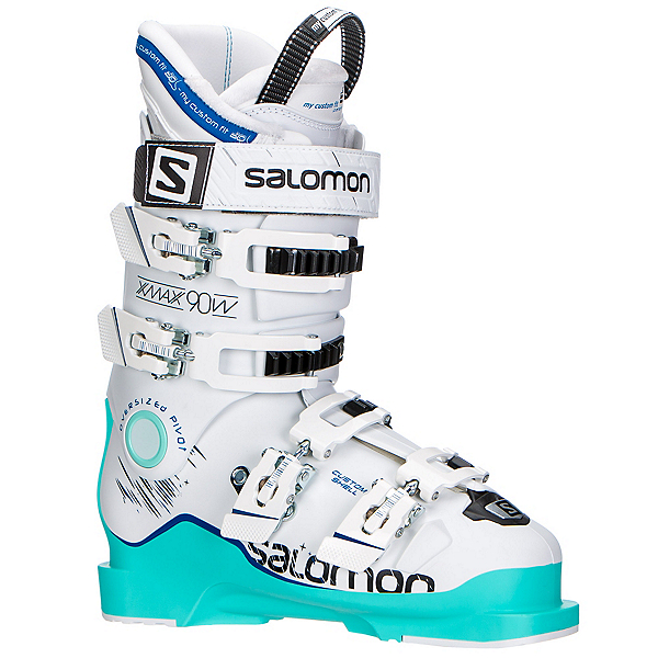 Salomon X-Max 90 W Womens Ski Boots, Soft Green-White-Union Blue, 600