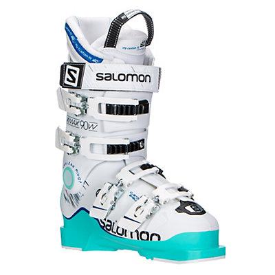 Salomon X-Max 90 W Womens Ski Boots 2017, Soft Green-White-Union Blue, viewer