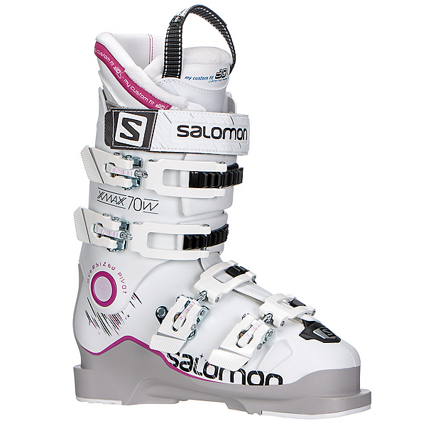 Salomon X-Max 70 W Womens Ski Boots 2017, Grey-White-Pink, 600