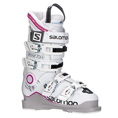 Salomon X-Max 70 W Womens Ski Boots 2017, Grey-White-Pink, viewer