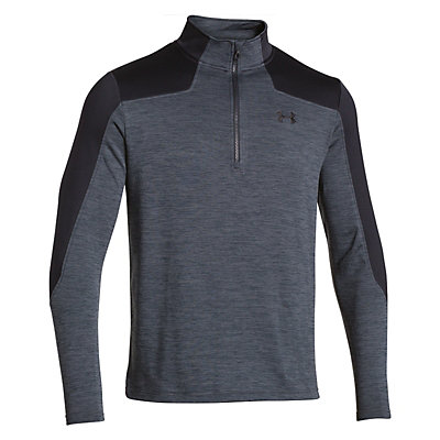 Under Armour Gamut 1/4 Zip Mens Mid Layer, Stealth Gray-Black, viewer