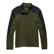 Under Armour Gamut 1/4 Zip Mens Mid Layer, Greenhead-Black, medium