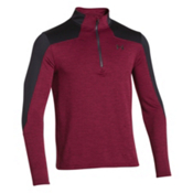 Under Armour Gamut 1/4 Zip Mens Mid Layer, Deep Red-Black, medium