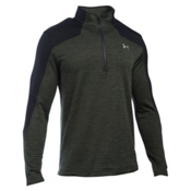 Under Armour Gamut 1/4 Zip Mens Mid Layer, Artillery Green-Graystone, medium
