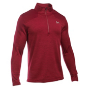 Under Armour Gamut 1/4 Zip Mens Mid Layer, Cardinal-Graystone, medium