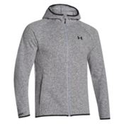 Under Armour Forest Full Zip Hoodie, True Gray Heather-Black, medium