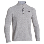 Under Armour Specialist Storm Mens Sweater, True Gray Heather-Black, medium