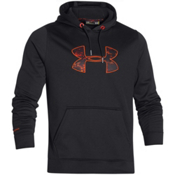 Under Armour Rival Hoodie, Black-Fuego, medium