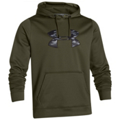 Under Armour Rival Mens Hoodie, Greenhead-Black, medium