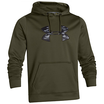 Under Armour Rival Mens Hoodie, Black-Fuego, viewer