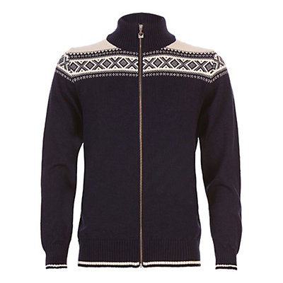 Dale Of Norway Hemsedal Masculine Mens Sweater, Navy-Off White, viewer