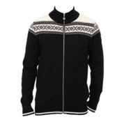 Dale Of Norway Hemsedal Masculine Mens Sweater, Black-Off White, medium