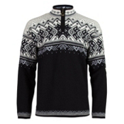 Dale Of Norway Vail Mens Sweater, Black-Light Charcoal-Smoke-Off, medium