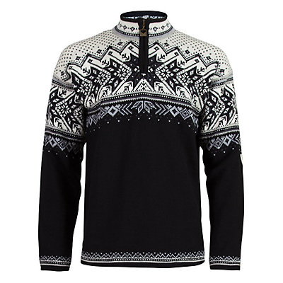 Dale Of Norway Vail Mens Sweater, Black-Light Charcoal-Smoke-Off, viewer