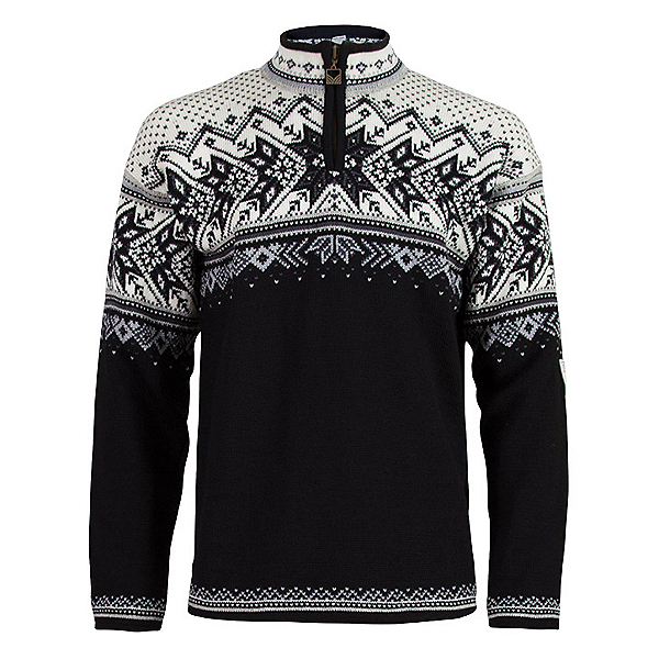 Dale Of Norway Vail Mens Sweater, Black-Light Charcoal-Smoke-Off, 600
