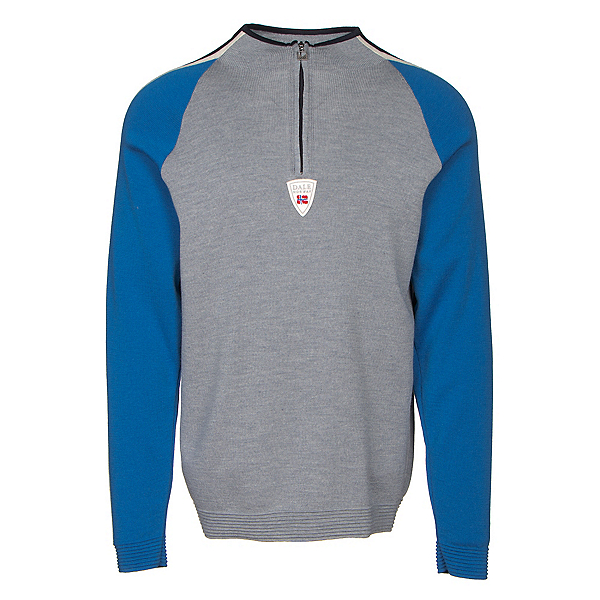 Dale Of Norway Besseggen Masculine Mens Sweater, Grey Melange-Cobalt-Off White-, 600