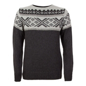Dale Of Norway Voss Masculine Mens Sweater, Dark Charcoal-Light Charcoal-O, medium