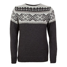 Dale Of Norway Voss Masculine Mens Sweater, Dark Charcoal-Light Charcoal-O, 256