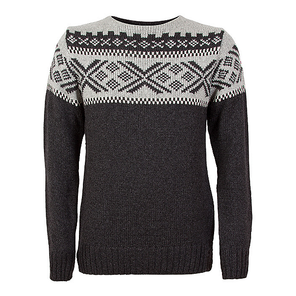 Dale Of Norway Voss Masculine Mens Sweater, Dark Charcoal-Light Charcoal-O, 600
