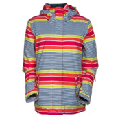 Roxy Jetty JK Womens Insulated Snowboard Jacket, Sailaway Limeade, medium