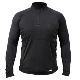 Mobile Warming Gear Longmen Crew Neck Mens Long Underwear Top, Black, 256