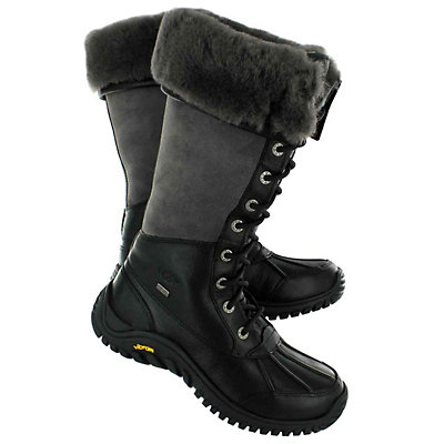 UGG Adirondack Tall Womens Boots, Black-Grey, viewer