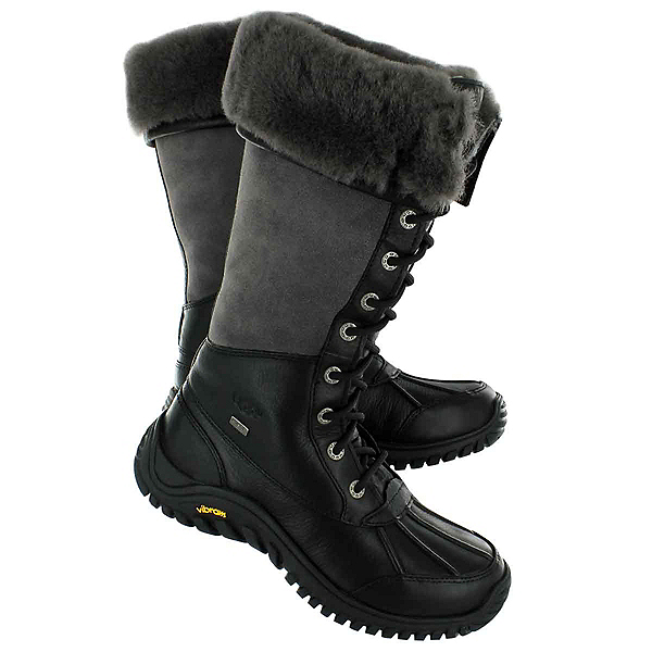 UGG Adirondack Tall Womens Boots, Black-Grey, 600