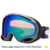 Oakley A Frame 2.0 Shaun White Goggles, Echelon Gunmetal Grey-Prizm Jade Iridium, medium