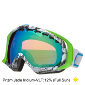 Oakley Crowbar Tanner Hall Goggles 2016, Pillow Trip-Prizm Jade Iridium, medium