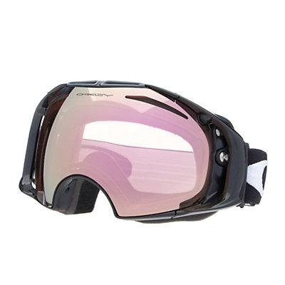 Oakley Airbrake Alt Fit Goggles, Jet Black-Vr50 Pink Iridium + Bonus Lens, viewer