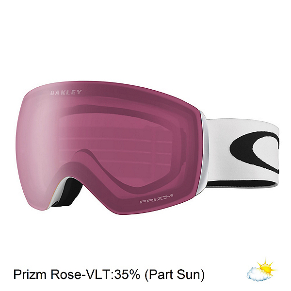 Oakley Flight Deck XM Prizm Goggles 2018, Matte White-Prizm Rose, 600