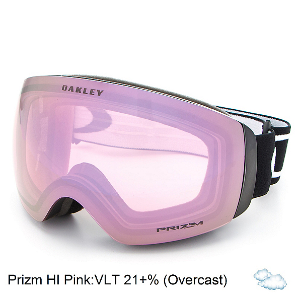 Oakley Flight Deck XM Prizm Goggles 2017, Matte Black-Prizm Hi Pink, 600