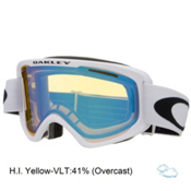 Oakley O2 XM Goggles 2017, Matte White-Hi Yellow, medium