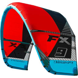 Cabrinha FX Kiteboarding Kite, Red-Blue, 256
