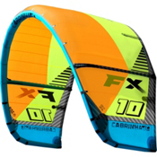 Cabrinha FX Kiteboarding Kite, Orange-Green, medium