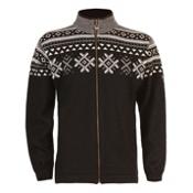 Dale Of Norway Dovre Mens Sweater, Black-Off White-Smoke, medium