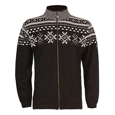 Dale Of Norway Dovre Mens Sweater, Smoke-Off White-Black, viewer