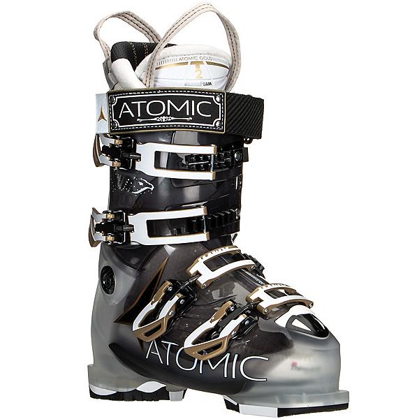 Atomic Hawx 100 W Womens Ski Boots, Crystal-Transparent Black, 600