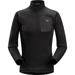 Arc'teryx RHO AR Zip Neck Mens Long Underwear Top, Black, 256