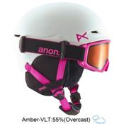 Anon Define Kids Helmet 2016, White-Pink, medium