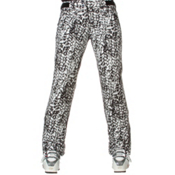 Descente Selene Womens Ski Pants, Black Leopard Print, medium