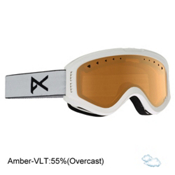 Anon Tracker Kids Goggles, White-Amber, medium