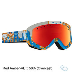 Anon Tracker Kids Goggles, Motley-Red Amber, 256