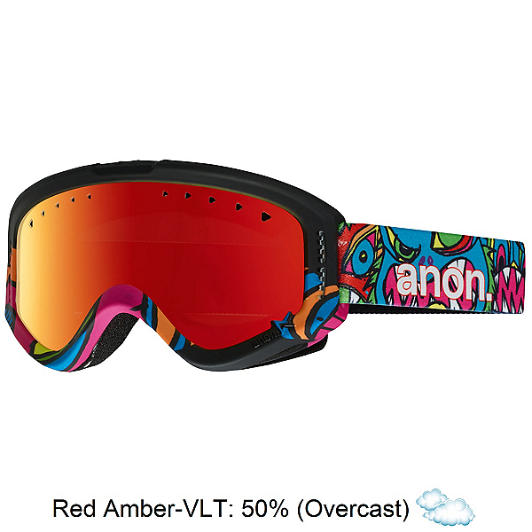 Anon Tracker Kids Goggles, Wild Thing-Red Amber, 600