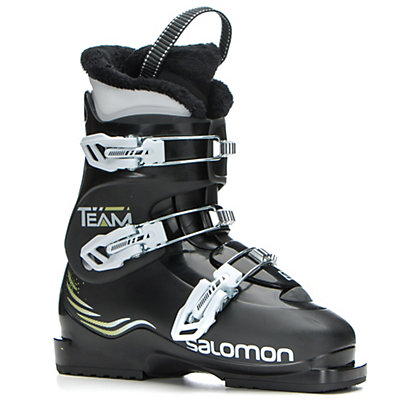 Salomon Team T3 Kids Ski Boots, Black-Black, viewer