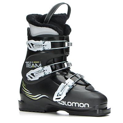 Salomon Team T3 Kids Ski Boots, Black-Black, viewer