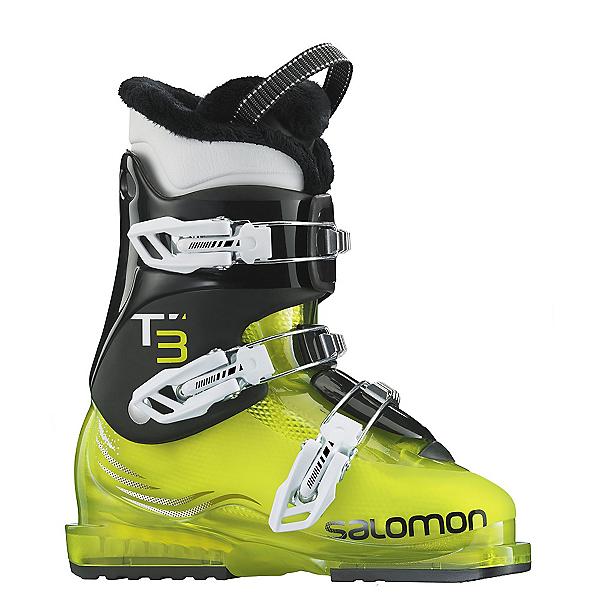 Salomon T3 RT Kids Ski Boots, Acide Green-Black, 600